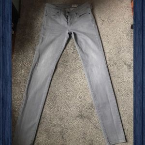 UNIQLO GRAY SKINNY FIT JEANS 👖 SIZE 26